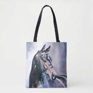 Watercolor Horse All-Over-Print Tote Bag
