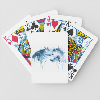 Watercolor horse kiss, horse love poker deck