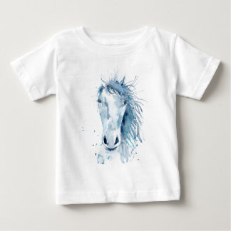 Watercolor horse portrait baby T-Shirt