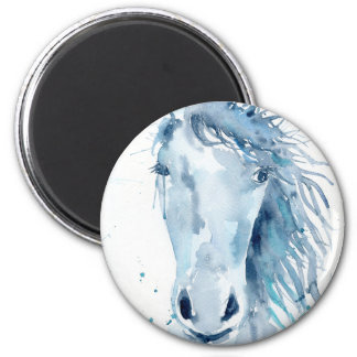Watercolor horse portrait magnet