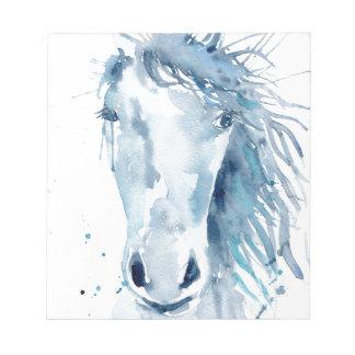 Watercolor horse portrait notepad
