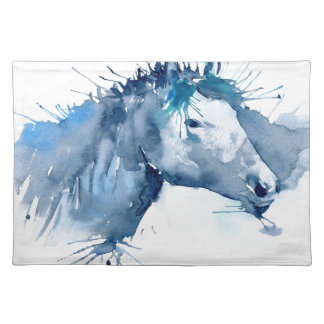 Watercolor Horse Portrait Placemat