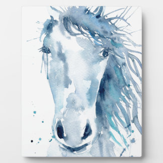 Watercolor horse portrait plaque