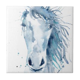 Watercolor horse portrait tile