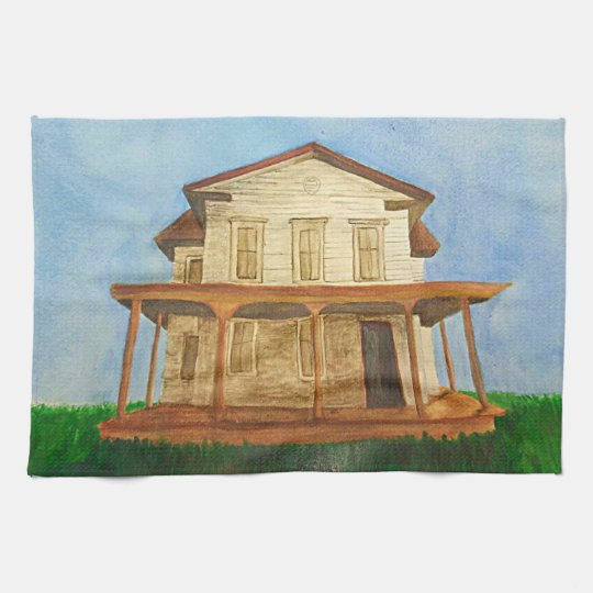 Watercolor House Hand Towels
