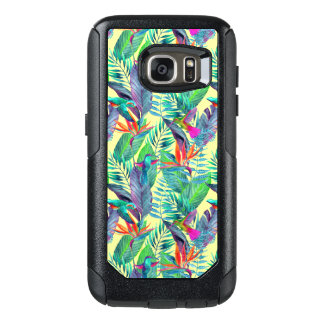 Watercolor Humminbirds In The Jungle OtterBox Samsung Galaxy S7 Case