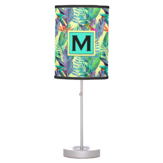 Watercolor Hummingbirds | Add Your Initial Table Lamp