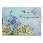 Watercolor Hydrangea Floral - Sign Guestbook Card