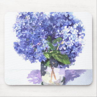 Watercolor Hydrangea Mouse Pad
