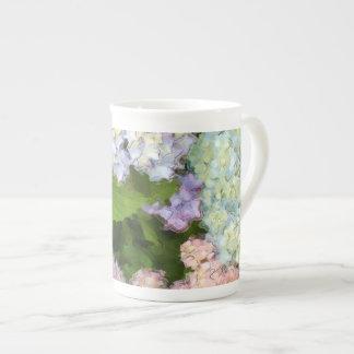 Watercolor Hydrangeas Bone China Tea Cup