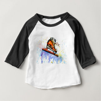 Watercolor Ice Skate Baby T-Shirt