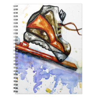 Watercolor Ice Skate Notebooks