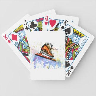 Watercolor Ice Skate Poker Deck