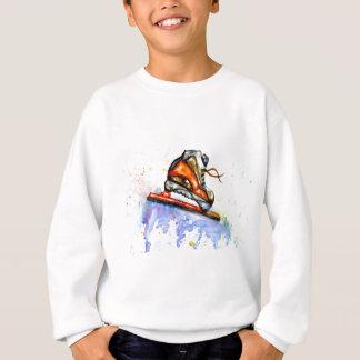 Watercolor Ice Skate Sweatshirt