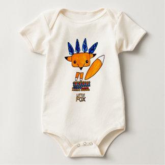 Watercolor illustration cute Fox. Fun nice animal Baby Bodysuit