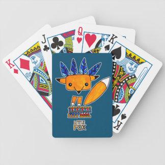 Watercolor illustration cute Fox. Fun nice animal Bicycle Playing Cards