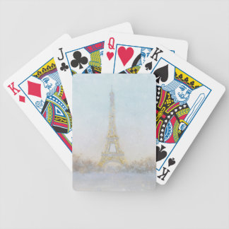 Watercolor | Image of Eiffel Towe Bicycle Playing Cards