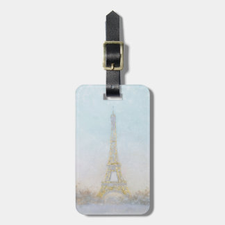 Watercolor | Image of Eiffel Towe Luggage Tag