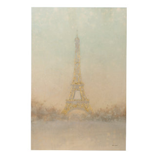 Watercolor | Image of Eiffel Towe Wood Canvases