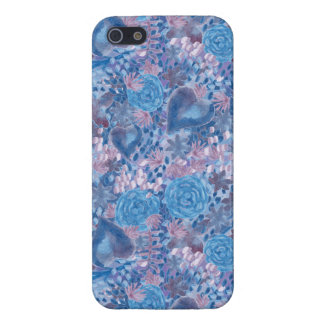 Watercolor in blues iPhone 5/5S covers