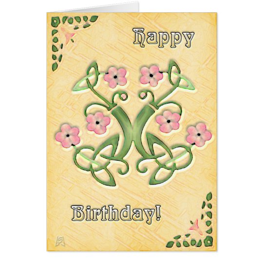 Watercolor in Maize Birthday (card) Card