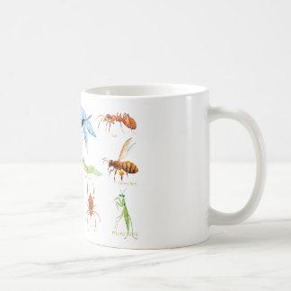 Watercolor insect illustration coffee mug