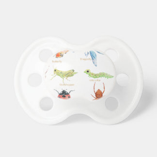 Watercolor insect illustration pacifier