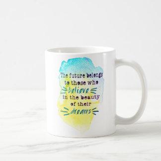 Watercolor Inspirational Quote Coffee Mug
