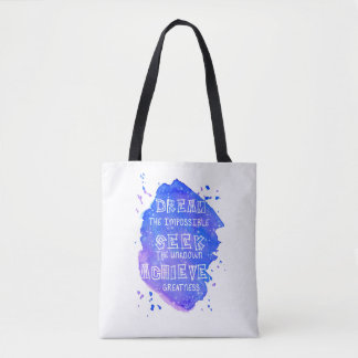 Watercolor Inspirational Quote Tote Bag