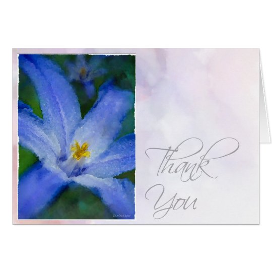 Watercolor Iris-TY Card