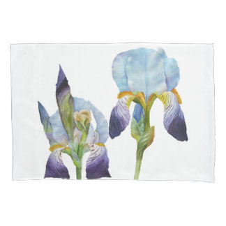 Watercolor Irises Pillowcase