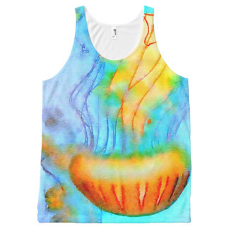Watercolor Jellyfish All-Over-Print Tank Top