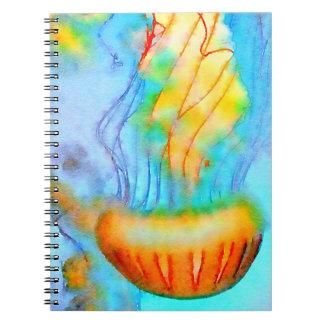 Watercolor Jellyfish Note Books