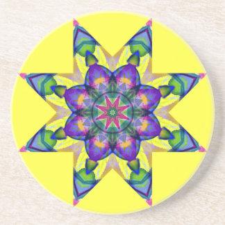 Watercolor Kaleidoscopic Mandala Design Coaster.1 Coasters