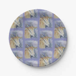 Watercolor Kid Goat 7 Inch Paper Plate