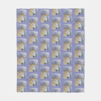 Watercolor Kid Goat Fleece Blanket