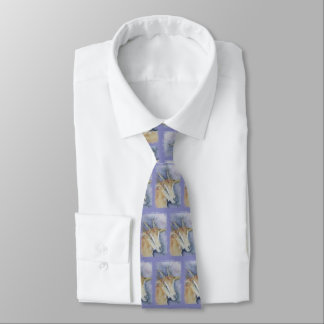 Watercolor Kid Goat Tie