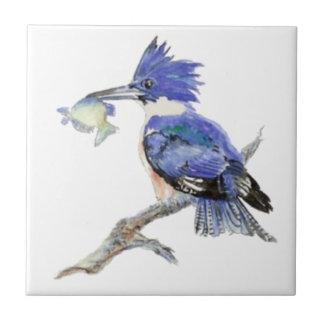 Watercolor Kingfisher Bird Wildlife Tiles