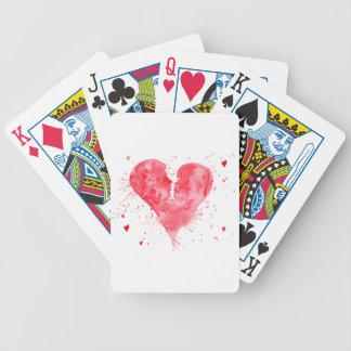 Watercolor kiss heart poker deck