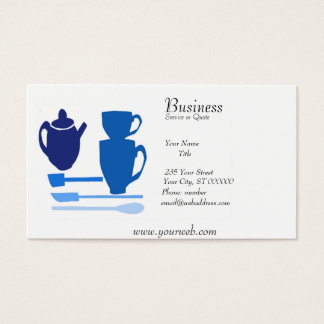 Watercolor Kitchen English Tea Time Business Card