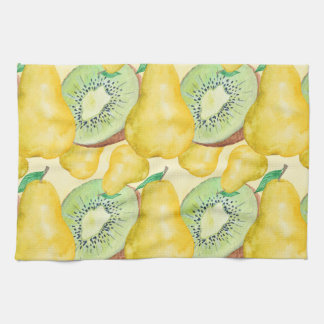 Watercolor Kiwi and Pear Kitchen Towel