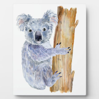 Watercolor koala illustration plaque