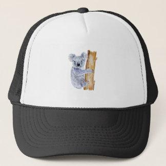 Watercolor koala illustration trucker hat