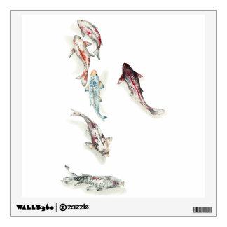Watercolor Koi Fish Wall Decal