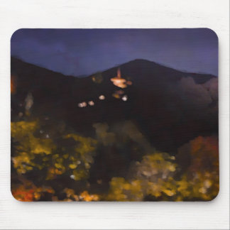 Watercolor Kyoto Autumn Temple Light Up Mouse Pad