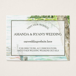 Watercolor Lake Wedding Information Insert