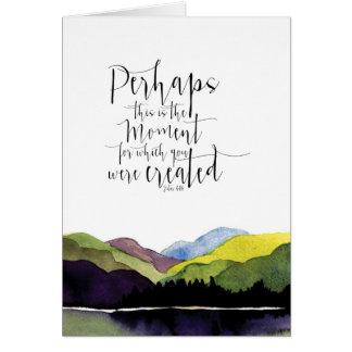 Watercolor landscape with biblical scripture card