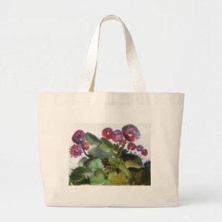 watercolor large tote bag