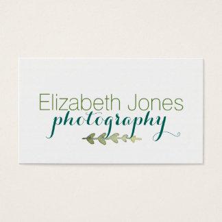 Watercolor Laurel Leaves Business Card