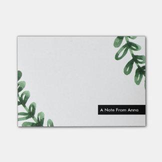 Watercolor Laurel Wreath Personalized Post-it® Notes